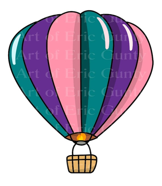 Hot Air Balloon Baby Shower Birthday - Edible Cake and Cupcake Topper For Birthday's and Parties! - D22927
