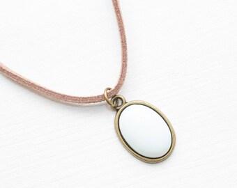 Opalite Choker, Opal and Suede Choker, White Stone Choker, Boho Jewelry, Layering Necklace, Boho Necklace, Gemstone Choker, Gemstone Jewelry