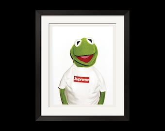 22x28 Print - Supreme x Kermit Photo By Terry Richardson Urban Street Poster