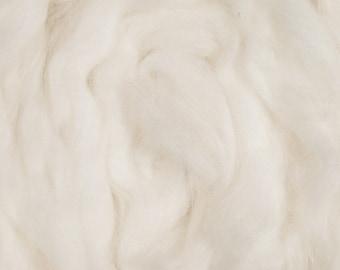 Angora Spinning Fiber, 4 ounces 100% Combed Angora Top, Super soft fiber, Pure white fiber, Jibber Fiber
