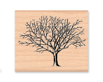 BARE WINTER TREE Rubber Stamp~Available in two sizes~Autumn Fall or Winter Stamp~ wood mounted rubber stamp (sm 20-10)(lg 41-20)