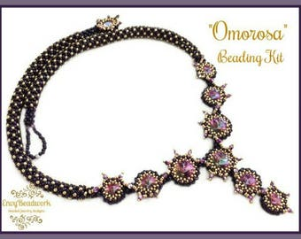 """Only Beads Kit : """"Omorosa"""" Necklace in English D.I.Y."""
