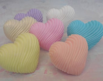 Heart Soap - Valentines Day Soap - Valentines Day Gift - Valentines Day Party Favor - Soap Party Favor - Textured Soap – Olive Oil Soap