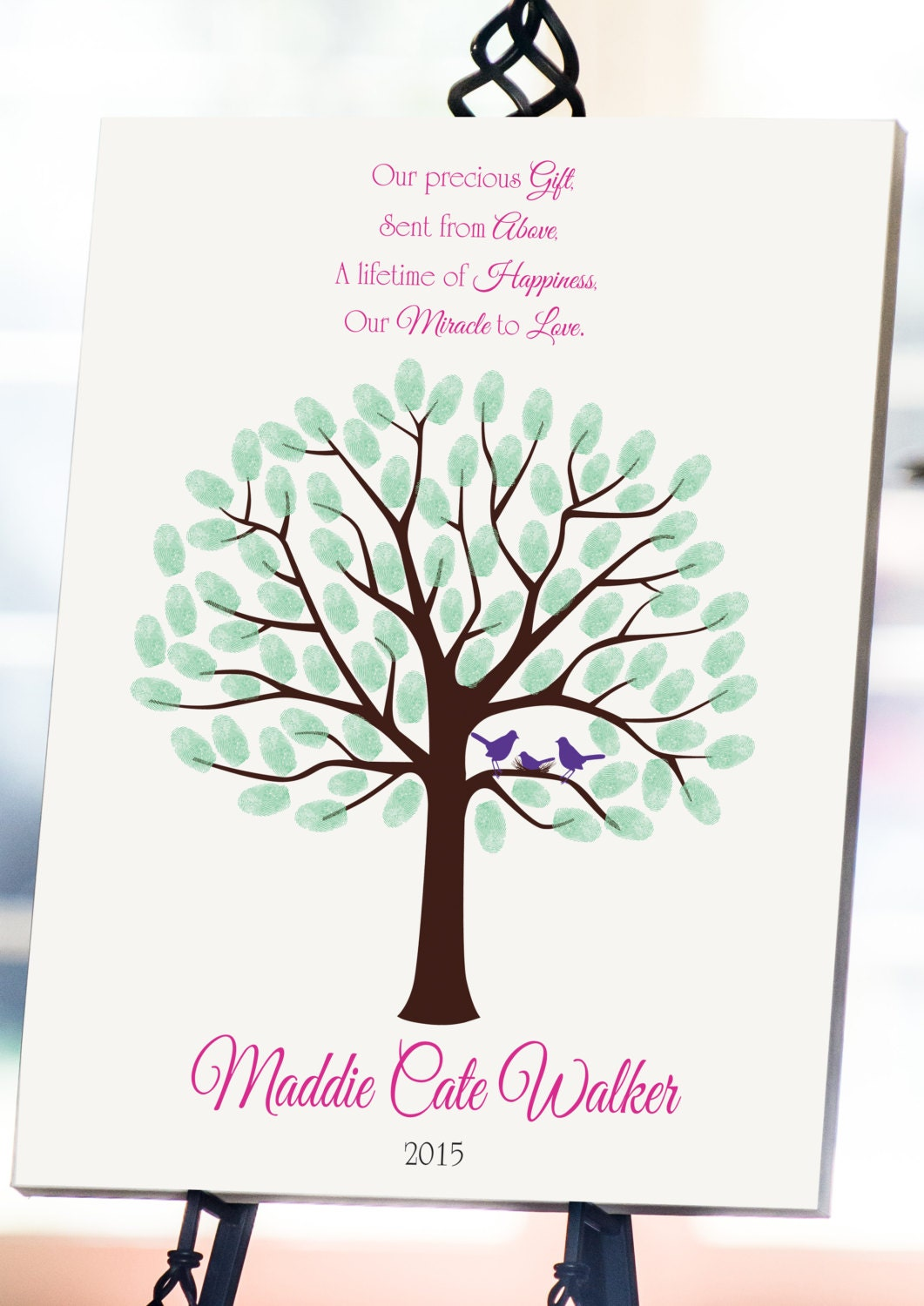 Fingerprint Tree Baby Shower Gallery