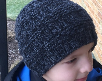 Handmade Knitted Beanie Cap // Hand Knitted Winter Hat