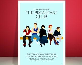 The Breakfast Club // John Hughes // 1980s // Minimalist Movie Poster // Unique Art Print