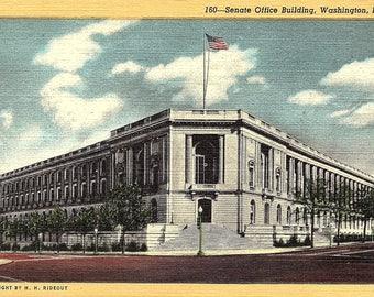 Postcard - Washington DC - Senate Office Building - Vintage Postcard - Unused (TT)