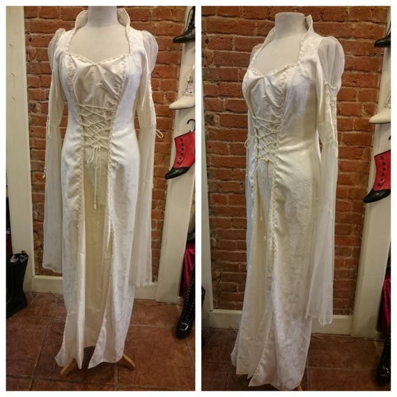 Sale Plus Size Gothic Medieval Wedding Gown