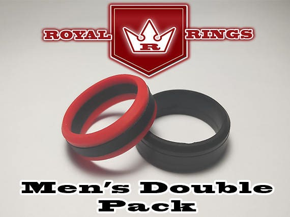 Men S Silicone Wedding Rings Double Pack Set 1 Durable Flexible