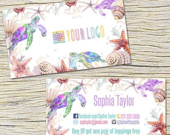 Turtle Punch Cards,Business Cards, Fast Free Personalization and Change, Digital Punch Cards,Home Office Punch Card,Mandala Business card