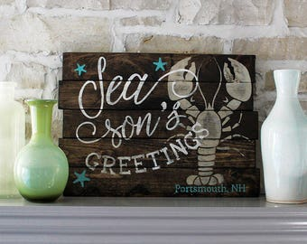 Nautical Seasons Greeting Sign