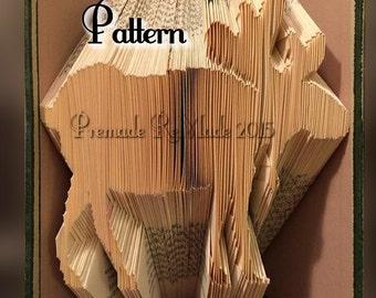 Moose - Folded Book Art Pattern - Instant Download!