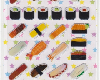 Sushi Stickers - Raised Sushi Stickers - Reference B1913