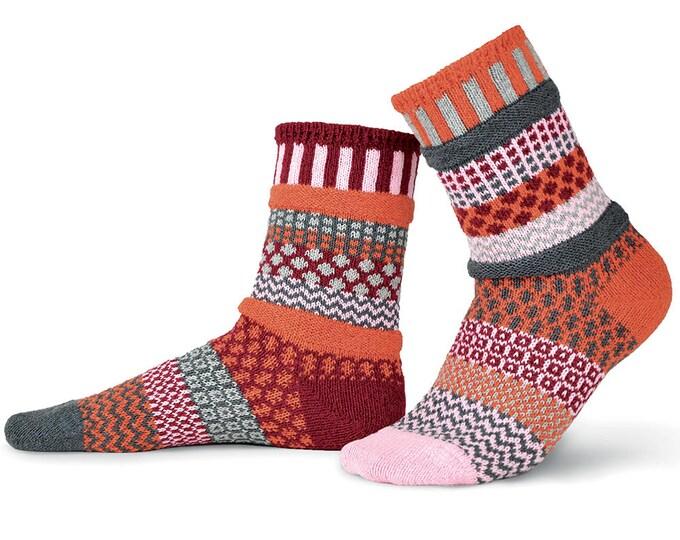 Solmate Socks - Persimmon Crew