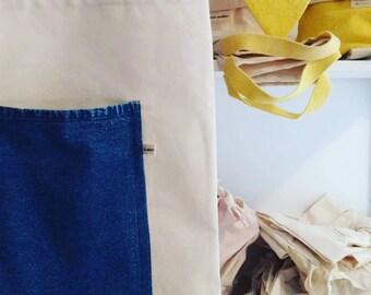 Totebag recycled jeans blouse