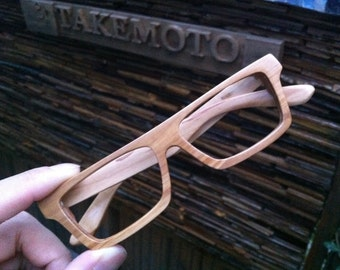 AUTUMN olive wood TAKEMOTO handmade glasses only one