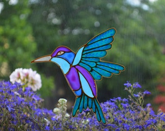 Hummingbird decal, Hummingbird art, Hummingbird gift , Gift idea for mom, Hummingbird suncatcher