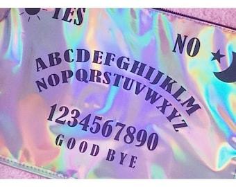 Holographic Ouija Clutch Bag / Spirit Board