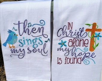 Flour Sack Towels, Religious, Easter, Beach, Personalized