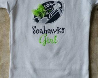 Seattle Seahawks Inspired Girl Shirt/bodysuit  Only