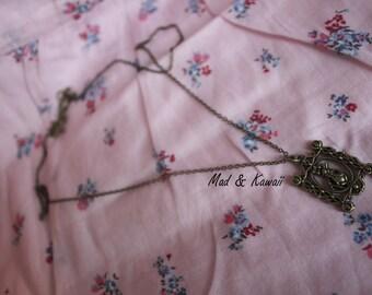 Framework rabbit necklace