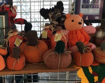 Pumpkins made from Sweaters