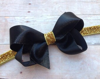 Baby headband - gold baby headband, baby headband bows, baby girl headbands, headbands baby, baby bows, baby bow headbands, bow headband