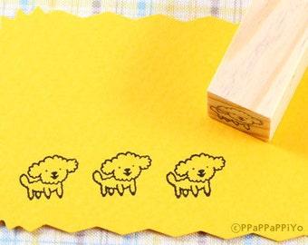 Poodle Dog Rubber Stamp