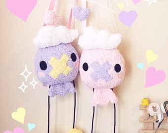 Drifloon Pokemon Inspired Plush Purse - Kawaii Novelty Purse/Pouch