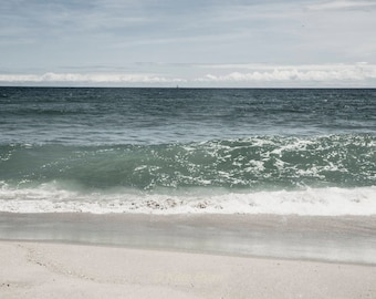 Blue Beach Wall Art, Ocean Wave, Photograph, Beach House Decor, Nautical Decor, Seaside Print, Cottage Decor, Ocean Coastal Art, Ocean Print