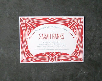 Invitation art déco