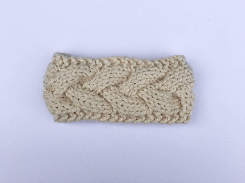Cable Knit Headband // Cream