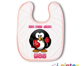 "Bib Baby Penguin ""I Love You"" No138"