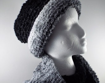 Winter Scarf And Hat Set Women Hat And Scarf Set Knit Hat And Scarf  Knit Snood And Hat Chunky Knit Set Loop Scarf