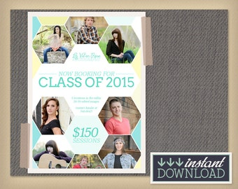 Now Booking Senior Photos Mini Session Photography Template & Facebook Timeline Cover images - Digital Marketing Board Flyer Advertisement