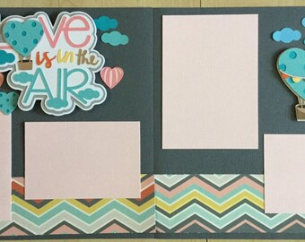 Love is in the Air 12x12 (2) Page Layout Premade