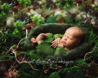 Newborn Digital Backdrop - marley nest, side on, instant download