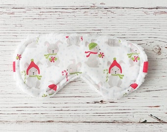 Christmas In Julys - Kids Gift Idea-  Eye Mask - Sleeping Mask - Bunny Sleep Mask - Sleep Mask - Gifts Under 20 - Blindfold