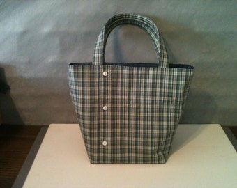 Pattern - Upcycle a men's shirt - Shirt and Pants Tote Bag - upcycle, refashion, reuse