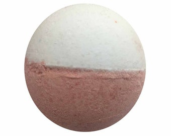 Cotton Blossom Bath Bomb, Blue and Pink Bath Fizzy, Handmade Spa Product, Epsom Salts, Hydrating Coconut Oil, Sensitive Skin