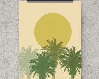 Palm tree art, nature prints, digital download, tropical art print, palm tree, palm tree wall art, printable wall art, downloadable art