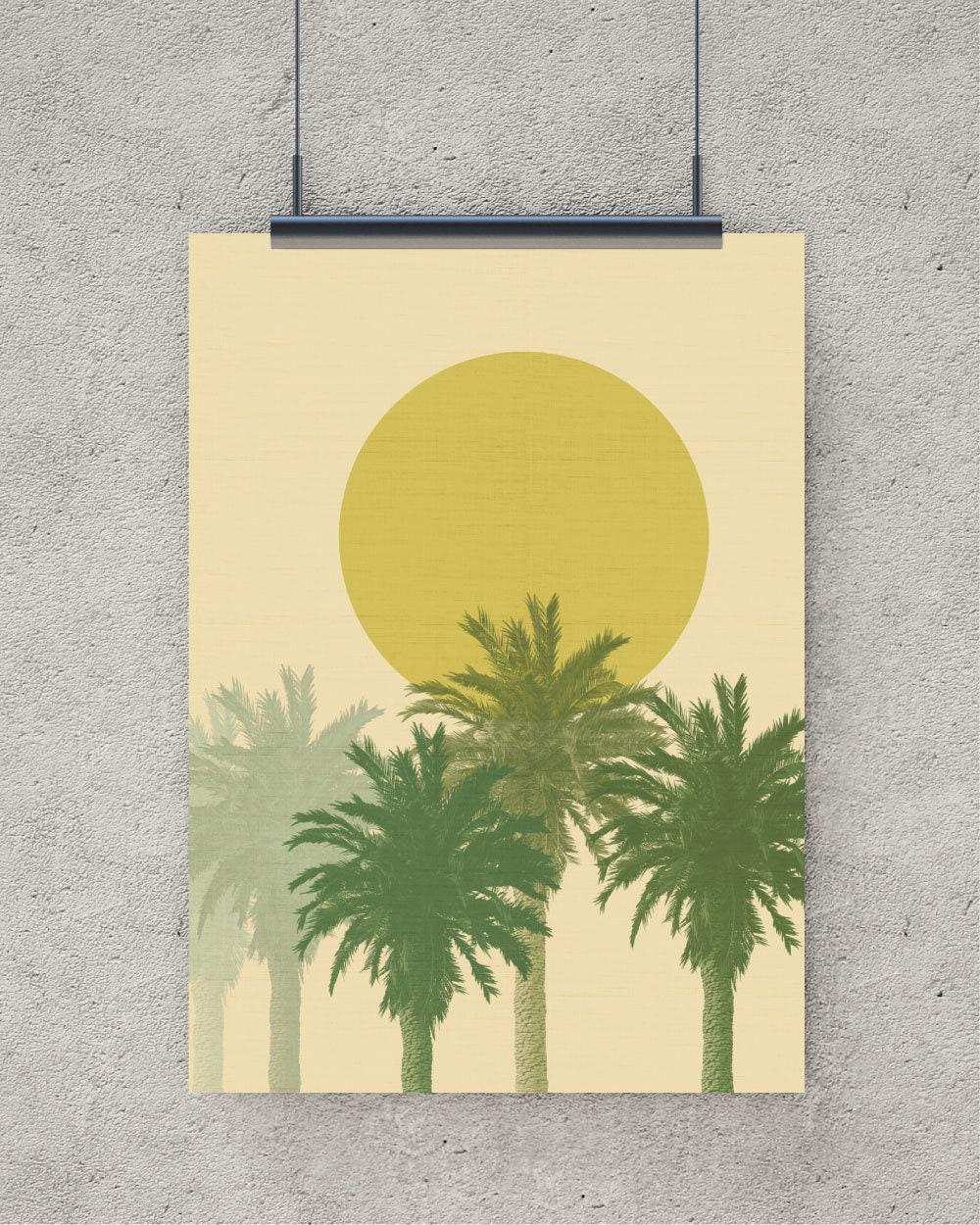 Palm tree art nature prints digital download tropical art