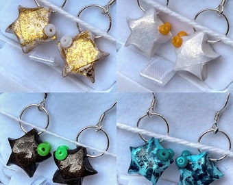Earrings Origami star fish • abcd ⋆