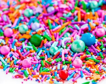 FAST Shipping!!! How Bazaar Sweetapolita 4oz  Sprinkles, Jimmies Sprinkles, Bazaar Mix Sprinkles, Cookie Sprinkles, Cake Sprinkles