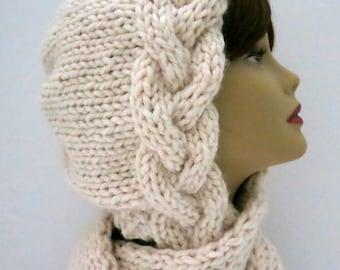 Knitting Pattern Hat, Braid Bonnet