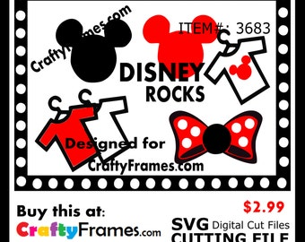 ITEM # CF-3683 - Red Minnie Mickey Mouse Birthday Disney - SVG Cutting Machine File - Instant Download - Commercial Use - 2.99