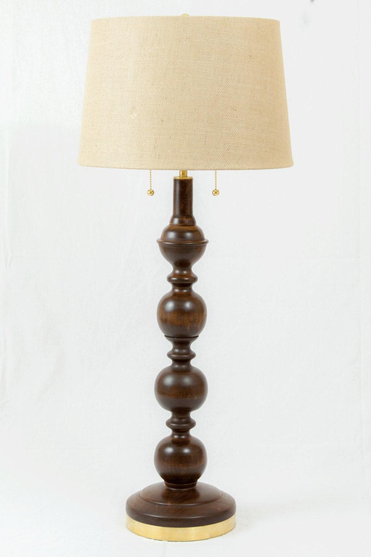 1 & Cherry Floor and Table Lamp Set (2 table lamps 1 floor lamp) Handmade