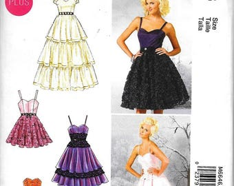 McCall's M6646 Misses Flared Sweetheart-Neckline Evening Special Occasion Dress Sewing Pattern UNCUT Size 8, 10, 12, 14, 16