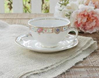 Knowles Plaza Tea Cup Set, Cottage Style, Edwin Knowles, Tea Party, French Farmhouse, Weddings, Ca. 1920's
