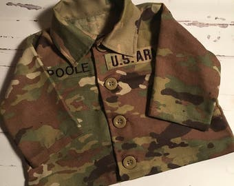 Military Inspired Baby Jacket, Baby Military Jacket, Baby Military Jacket OCP Multicam
